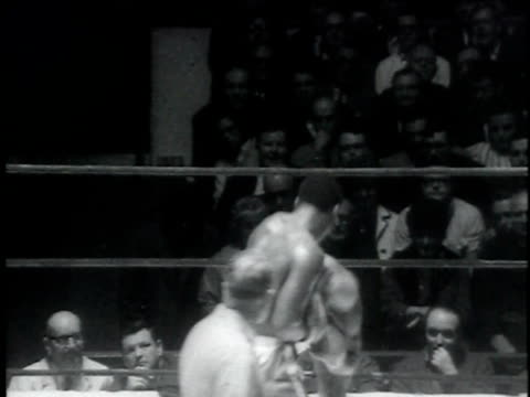 joe frazier defeats marion conner / boston massachuesetts usa / audio - boxing heavyweight stock videos & royalty-free footage