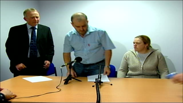 parents' tribute england greater manchester bury int tom geeling and wife along to press conference detective superintendent martin bottomley press... - pathologist stock videos and b-roll footage