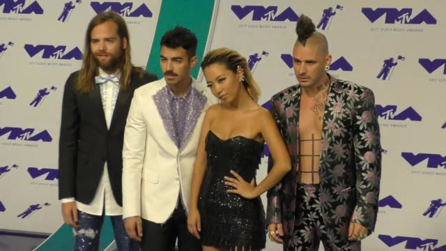 joe jonas and dnce at the 2017 mtv video music awards at the forum on august 27 2017 in inglewood california - inglewood stock videos & royalty-free footage