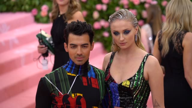Joe Jonas and Sophie Turner at The 2019 Met Gala Celebrating Camp Notes on Fashion Arrivals at Metropolitan Museum of Art on May 06 2019 in New York...