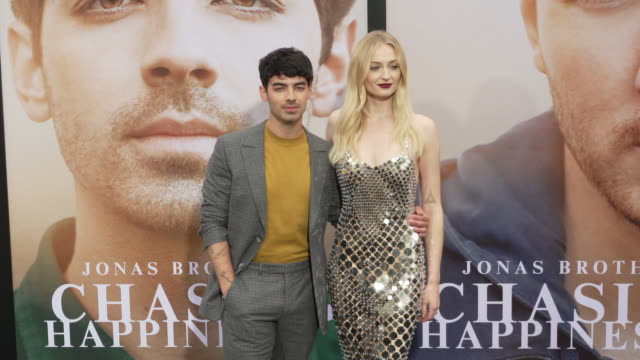 joe jonas and sophie turner at the jonas brothers' chasing happiness world premiere at regency bruin theatre on june 03 2019 in los angeles california - bruin theater stock videos & royalty-free footage