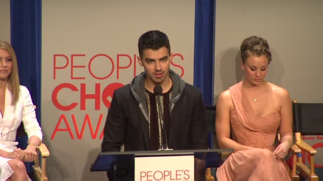 joe jonas at the people's choice awards 2012 nominations press conference - people's choice awards stock videos & royalty-free footage