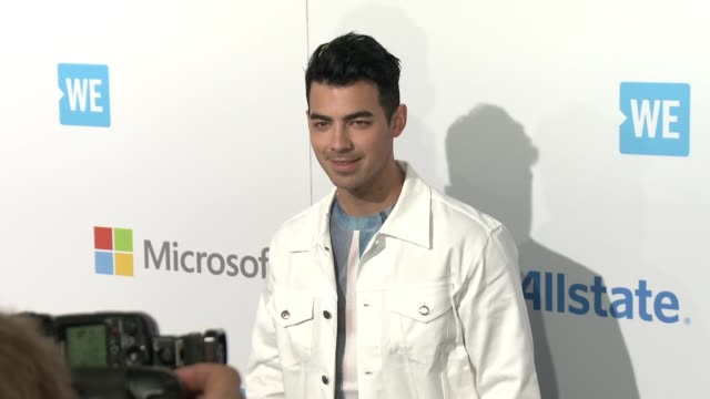 joe jonas at we day california at the forum on april 07 2016 in inglewood california - inglewood stock videos and b-roll footage