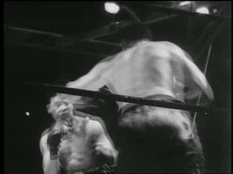 joe louis + jack sharkey boxing / yankee stadium, new york city - 1936 stock videos & royalty-free footage