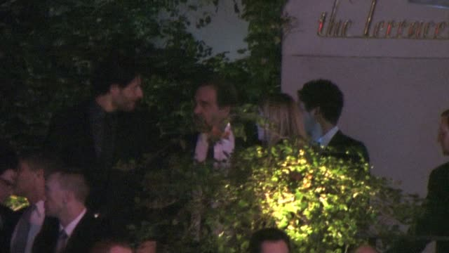 stockvideo's en b-roll-footage met joe manganiello and oliver stone at sunset tower hotel in west hollywood 01/15/11 at the celebrity sightings in los angeles at los angeles ca - oliver stone