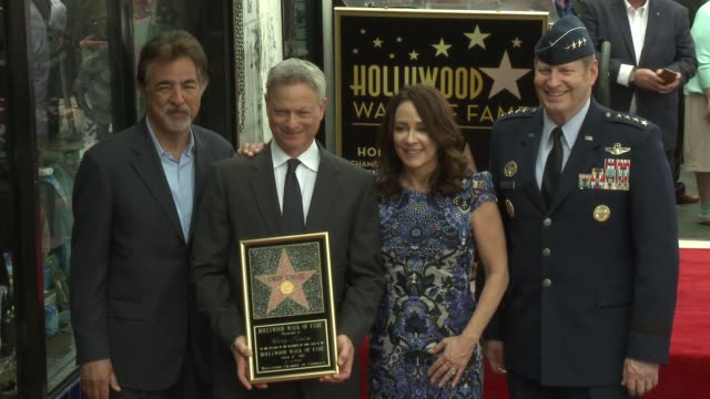 Joe Mantegna Gary Sinise Patricia Heaton General Robin Rand at Gary Sinise Honored With Star on The Hollywood Walk Of Fame on April 17 2017 in...