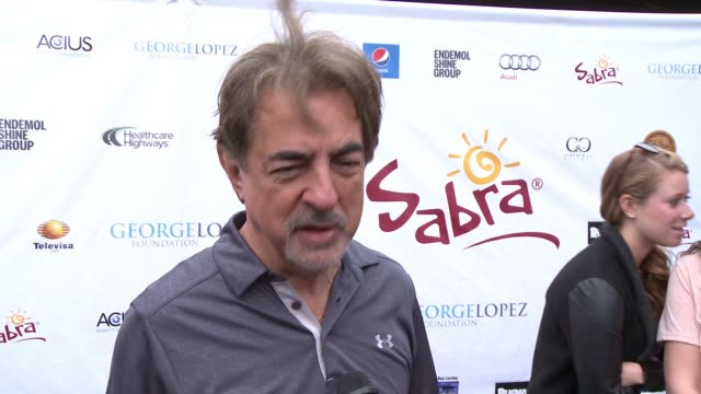 INTERVIEW Joe Mantegna on being a part of today what he appreciates about George and his philanthropic efforts at Lakeside Golf Club on May 04 2015...