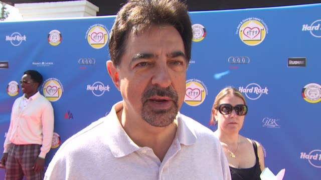 Joe Mantegna on on being a part of the event what he appreciates about George Lopez's philanthropic efforts and if he's an avid golfer at the Third...