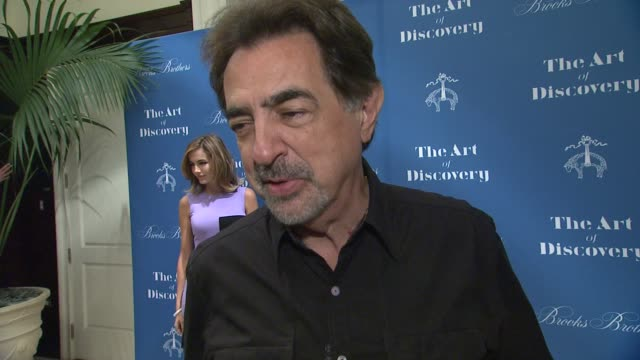 INTERVIEW Joe Mantegna on the event at Brooks Brothers Celebrates The Art Of Discovery Book Launch at Brooks Brothers Rodeo on October 23 2014 in...