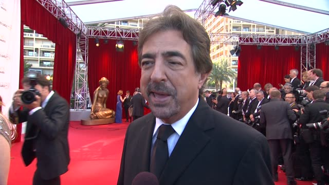 INTERVIEW Joe Mantegna on the popularity of his series 'Criminal Minds' at the Closing Ceremony of the 53rd MonteCarlo Television Festival Day 4 in...