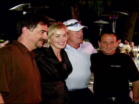 joe mantegna sharon stone james caan and joe pesci at the 9th annual elizabeth glaser pediatric aids foundation celebrity golf classic at lakeside... - elizabeth glaser stock videos & royalty-free footage