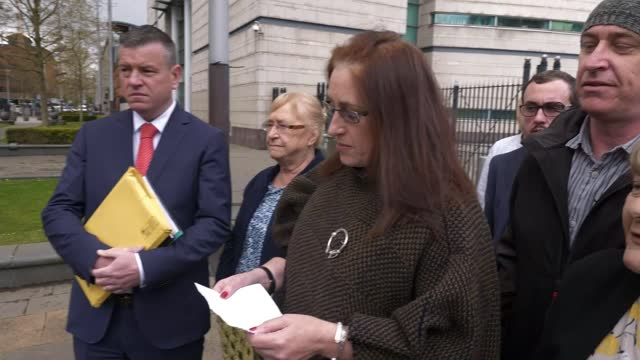 two former british paratroopers acquitted of murder as trial collapses; northern ireland: belfast: laganside courts: ext johnny mercer mp interview... - crime and murder stock videos & royalty-free footage