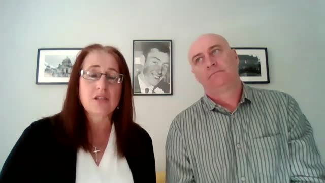 two former british paratroopers acquitted of murder as trial collapses; england: london: gir: int aine mccann interview via internet sot, alongside... - crime and murder stock videos & royalty-free footage