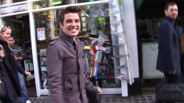 Joe McElderry discusses life since winning XFactor outside the BBC Radio Studios in London England