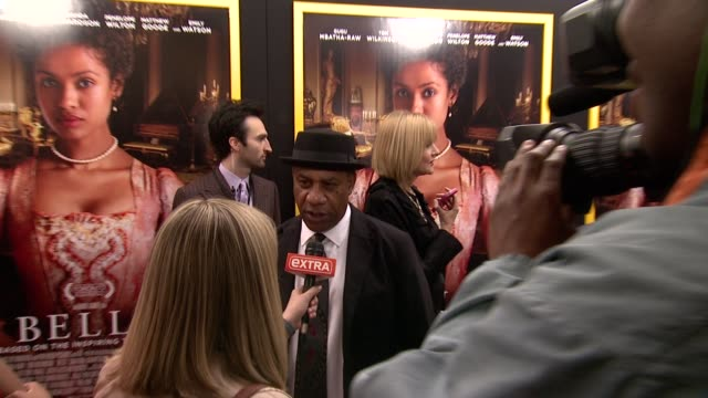 """joe morton at """"belle"""" new york premiere arrivals at the paris theater on april 28 2014 in new york city - paris theater manhattan stock videos and b-roll footage"""
