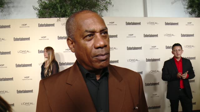 interview joe morton on 'scandal' on favorite television moments from this past season and on what entertainment weekly means to them at... - entertainment weekly stock videos and b-roll footage