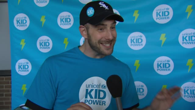 INTERVIEW Joe Mr D Dombrowski talks about UNICEF Kid Power and encouraging students to help the less fortunate at UNICEF Kid Power Day At The Chicago...