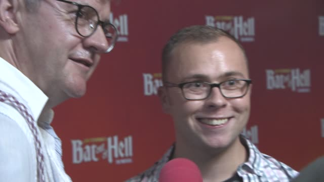 joe pasquale joe tracini at bat out of hell the musical opening night at london coliseum on june 20 2017 in london england - london coliseum stock videos and b-roll footage