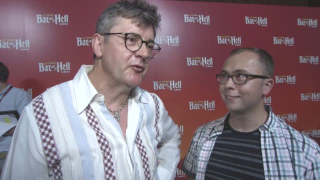 interview joe pasquale joe tracini on being the understudy meat loaf voice lasting forever his acting stand up at bat out of hell the musical opening... - london coliseum stock videos and b-roll footage