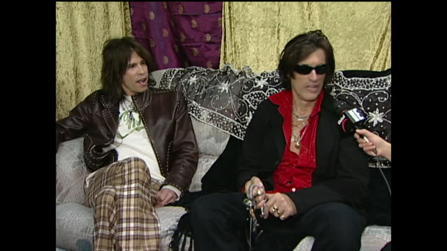 joe perry talks about the adrenaline of being on stage - steven tyler musician stock videos & royalty-free footage