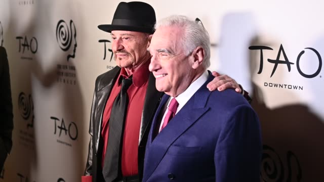 joe pesci martin scorsese at the 2019 new york film critics circle awards at tao downtown on january 07 2020 in new york city - arts culture and entertainment stock videos & royalty-free footage