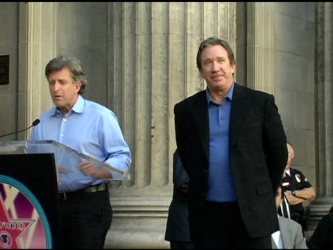 joe roth and tim allen at the dedication of tim allen's star on the 'hollywood walk of fame' at hollywood boulevard in hollywood california on... - tim allen stock videos and b-roll footage