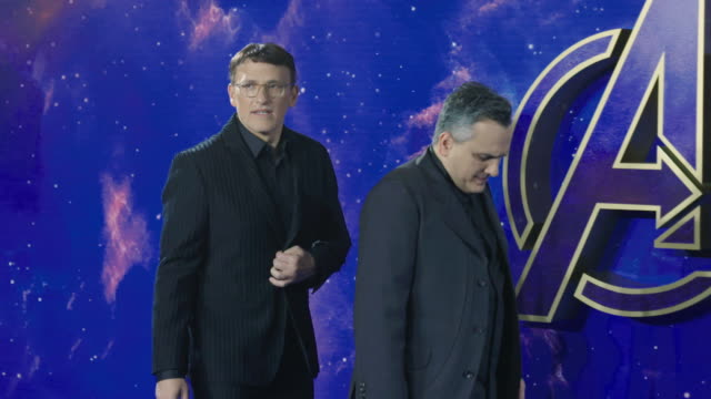 SLOMO Joe Russo Anthony Russ at 'Avengers Endgame' UK Fan Event on April 10 2019 in London United Kingdom