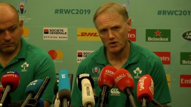 joe schmidt admits ireland's maiden two victories over new zealand have denied his side the element of surprise in saturday's world cup quarterfinal... - chicago illinois stock videos & royalty-free footage