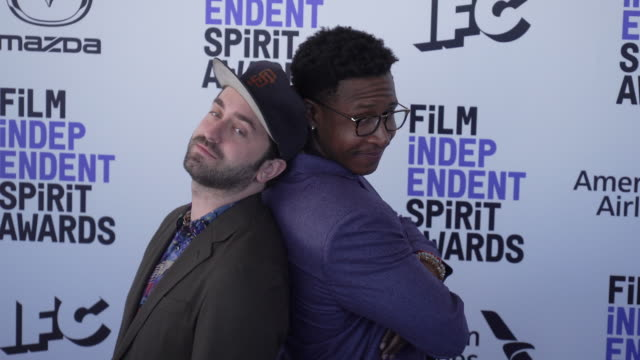 joe talbot and jimmie fails at the 2020 film independent spirit awards on february 08 2020 in santa monica california - film independent spirit awards stock videos & royalty-free footage