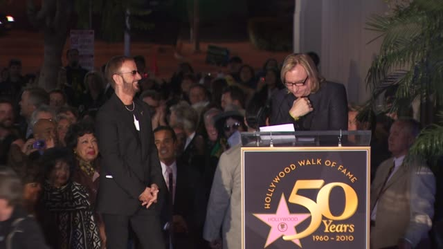 joe walsh honors ringo starr at the ringo starr honored with a star on the hollywood walk of fame at hollywood ca - ringo starr stock videos and b-roll footage