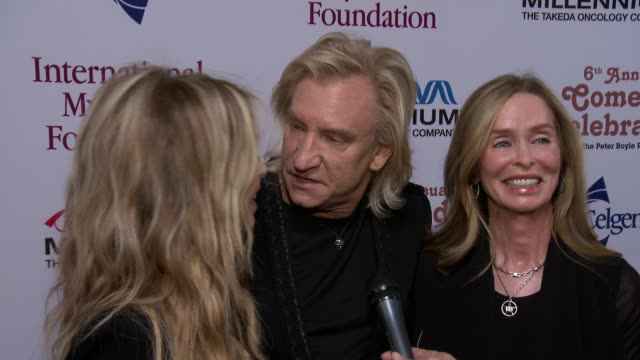 joe walsh on performing tonight, on imf and on peter boyle at international myeloma foundation 6th annual comedy celebration benefiting the peter... - peter boyle stock videos & royalty-free footage
