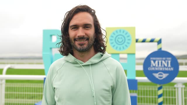 joe wicks at the body coach aka joe wicks begins pe with joe uk tour on august 09, 2021 in chichester, england. - colour image stock videos & royalty-free footage