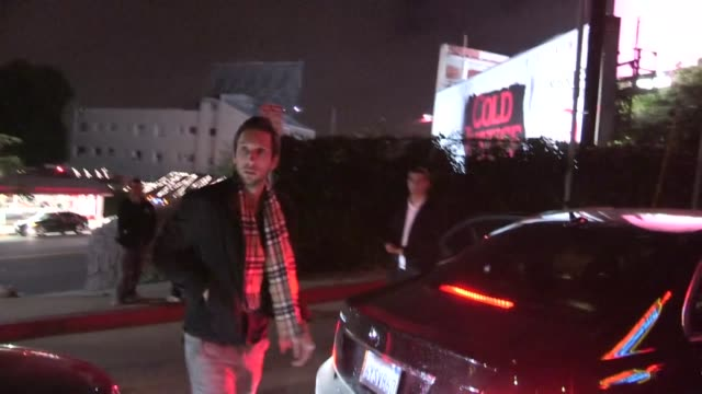 joel david moore & friend arrive to 30 seconds to mars after party at chateau marmont in weho at celebrity sightings in los angeles joel david moore... - 30 seconds or greater stock-videos und b-roll-filmmaterial