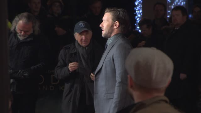 joel edgerton at 'exodus gods and kings' premiere at odeon leicester square on december 03 2014 in london england - odeon leicester square stock videos and b-roll footage