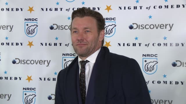 joel edgerton at the natural resources defense council presents night of comedy benefit hosted by seth meyers at new york historical society on april... - seth meyers stock videos and b-roll footage