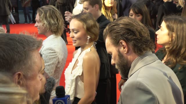 joel edgerton lilyrose depp at odeon luxe leicester square on october 03 2019 in london england - the times bfi london film festival stock videos & royalty-free footage