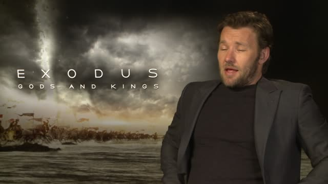joel edgerton on his brothers reaction to the plague scene at 'exodus: gods and kings' interviews at claridge's hotel on december 03, 2014 in london,... - claridge's stock videos & royalty-free footage