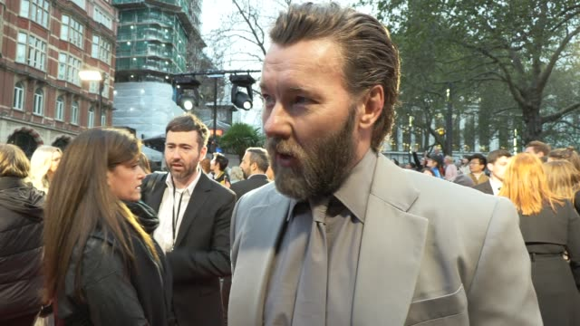 joel edgerton on timothee chalamet, toxic masculinity and the pressure of instant fame at odeon luxe leicester square on october 03, 2019 in london,... - celebrities stock videos & royalty-free footage