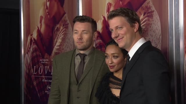 Joel Edgerton Ruth Negga and Director Jeff Nichols at Loving New York Premiere Presented by Focus Features at Landmark Sunshine Cinema on October 26...