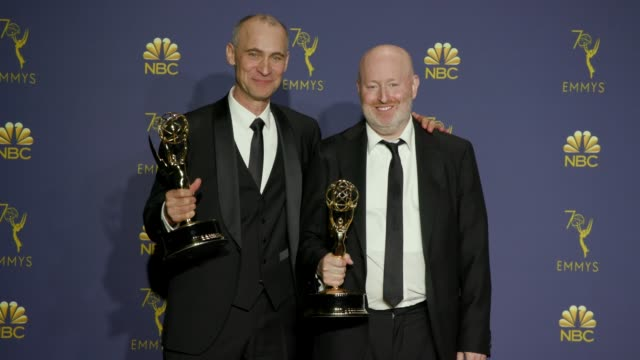 Joel Fields and Joe Weisberg at the 70th Emmy Awards Photo Room at Microsoft Theater on September 17 2018 in Los Angeles California