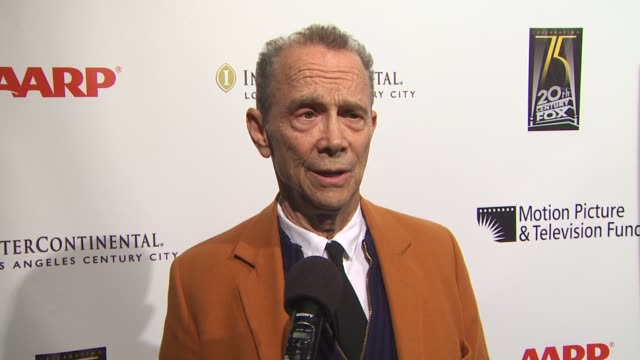 interview joel grey on being involved in tonight's benefit on the evening and on the first show he saw on broadway and the impression it made on him... - broadway show stock videos and b-roll footage