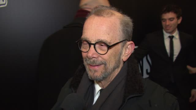 """stockvideo's en b-roll-footage met joel grey talks about seeing glenn close reprise her role at """"sunset boulevard"""" opening night at palace theatre on february 09, 2017 in new york city. - glenn close"""