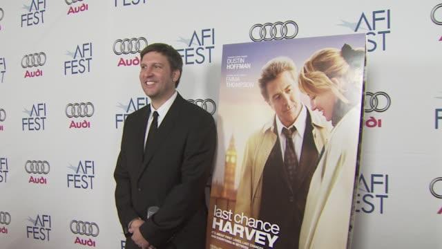 joel hopkins at the 'last chance harvey' premiere at los angeles ca - joel hopkins video stock e b–roll