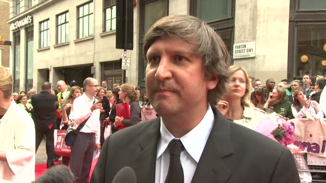 joel hopkins on the films premise on working with dustin hoffman and emma thompson at the last chance harvey uk premiere at london england - emma thompson stock videos and b-roll footage