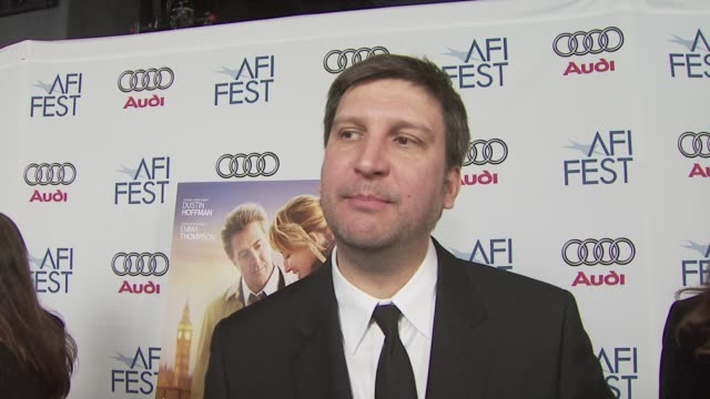 joel hopkins on the theme of the film his talented cast at the 'last chance harvey' premiere at los angeles ca - joel hopkins video stock e b–roll