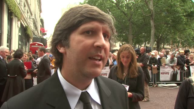 joel hopkins on working with emma thompson and dustin hoffman and them being focused on set at the last chance harvey uk premiere at london england - emma thompson stock videos and b-roll footage