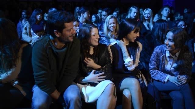 joel joan diana gomez and cristina brondo attend the sita murt fashion show at the '080 barcelona fashion week fall/winter 2015' on february 2 2015... - 2日目点の映像素材/bロール