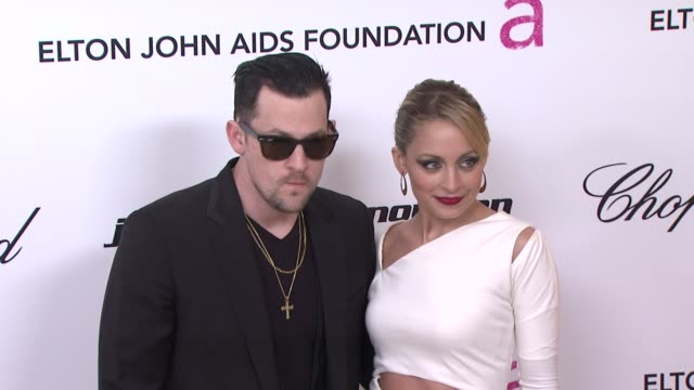 Joel Madden and Nicole Richie at the 19th Annual Elton John AIDS Foundation Academy Awards Viewing Party Part 2 at West Hollywood CA