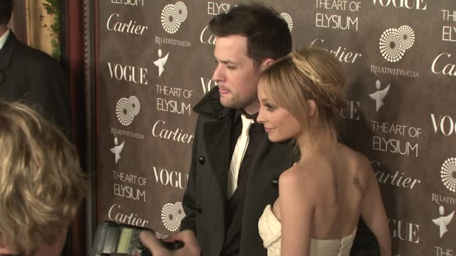 Joel Madden and Nicole Richie at the The Art of Elysium's 2nd Annual Black Tie Charity Gala 'Heaven' at Los Angeles CA