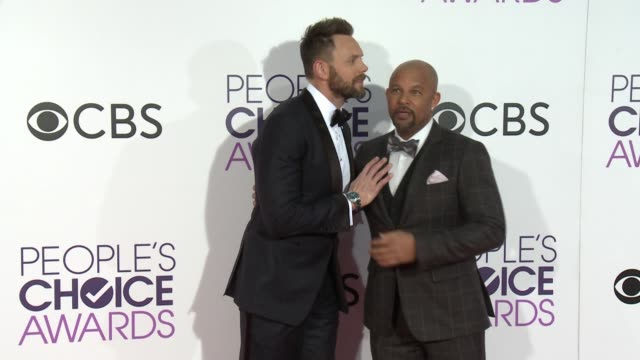 joel mchale and chris williams at the people's choice awards 2017 at microsoft theater on january 18, 2017 in los angeles, california. - people's choice awards stock videos & royalty-free footage